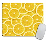 Yellow Lemon Slices Mousepad, Tropical Mouse Pad, Fruit Mousepad, Vegan Mouse Pad, Cute Gift, Funny Gift, Food Mousepad
