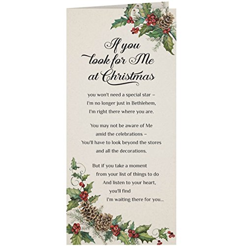 - Personalized Looking for Jesus Christmas Card Set of 20, Card Only Personalization