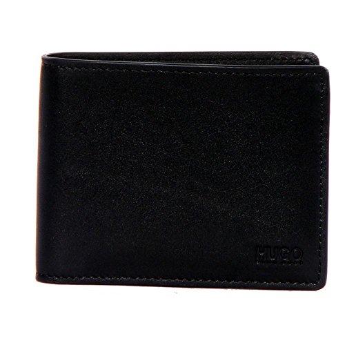 HUGO Men's Subway Bifold Wallet, Black/Red, One Size
