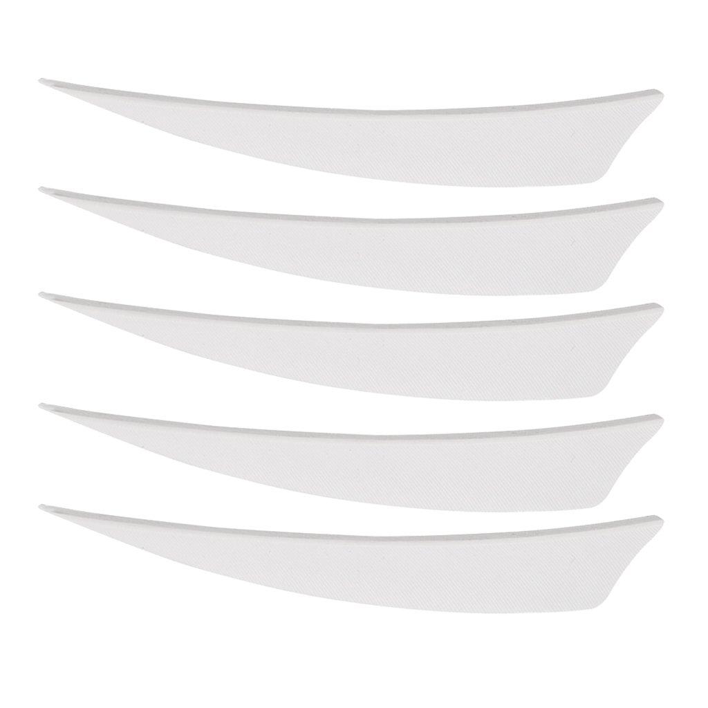 MagiDeal 5 Piezas Accesorios de Arqeuro Pluma Natural Universal Escudo Corte Blanco Bueno Deporte Entretenimiento Aire Libre - Blanco Derecho