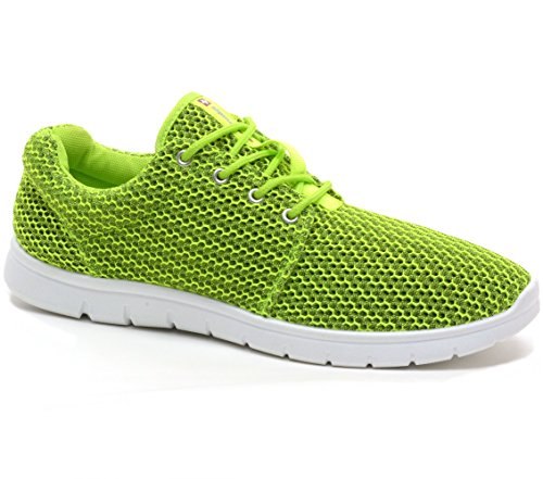Alpine Swiss Kilian Fashion Sneakers Lightweight Trainers Lace Up Casual Shoes, 9 D(M) US, Lime