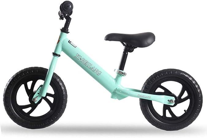 Equilibrio De 12 Pulgadas Bicicleta para Niña Y Niños Bicicletas De 3-8 Años No Pedalear Bicicleta para Niños Pequeños Niños,Blue-12: Amazon.es: Hogar