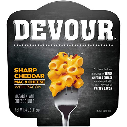 Devour Sharp Cheddar Mac & Cheese with Bacon 4oz, pack of 1