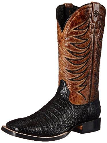 Ariat Menns Brann Catcher Western Cowboy Boot Svart Caiman / Buk Tan