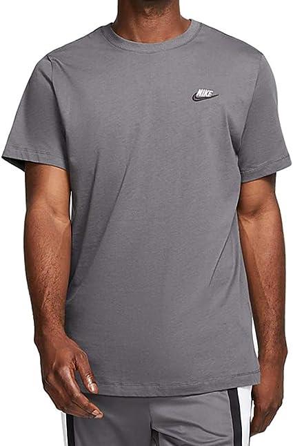 fecha Compasión tienda de comestibles  Amazon.com: Nike Sportswear Club AR4997-021 - Camiseta para hombre (talla  M), color gris oscuro/blanco/negro: Clothing