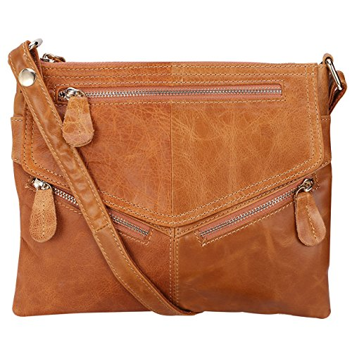 Lecxci Genuine Leather Handbags Crossbody