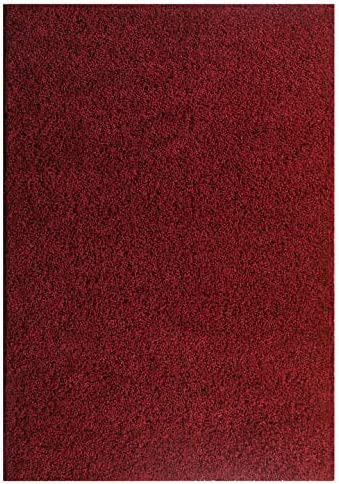 Msrugs Moon Shaggy Collection Solid Cozy Modern Contemporary Shag Area Rug