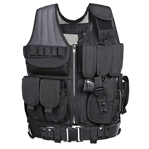 Tactical Vest, Weize Elite Molle Law Enforcement Vest Modular Assault Vest