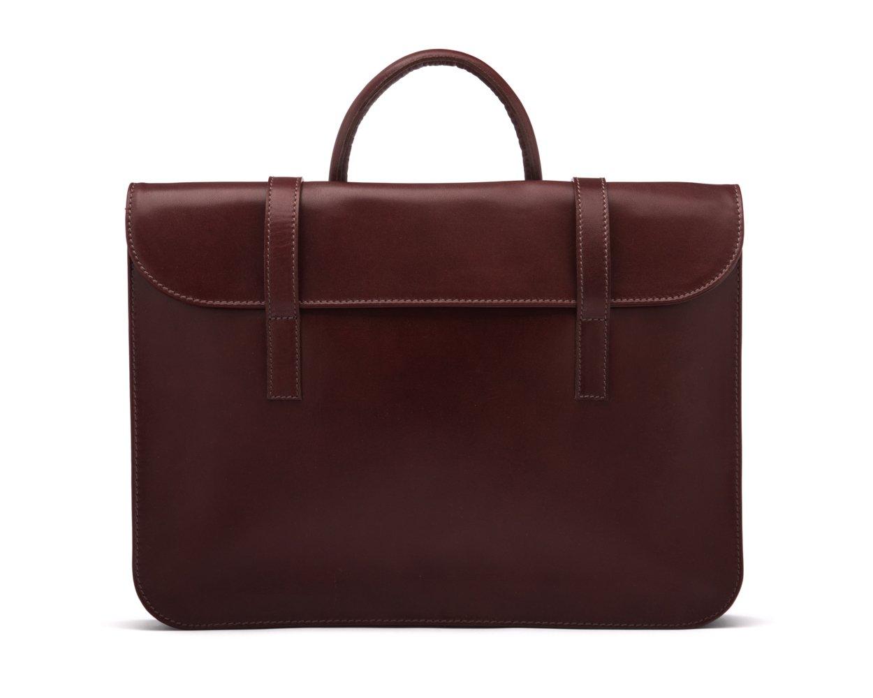 SAGEBROWN Dark Tan Luxury Leather Music Bag