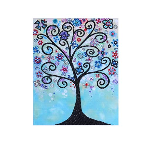 Outique DIY 5D Diamond Painting,Special Shaped Partial Drill Cross Stitch Kits Crystal Home Wall Décor Arts Craft