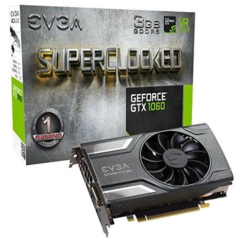 chollos oferta descuentos barato EVGA GeForce GTX 1060 3GB SC GAMING ACX 2 0 Ventilador simple 3GB GDDR5 DX12 Soporte OSD PXOC Tarjeta Grafica 03G P4 6162 KR