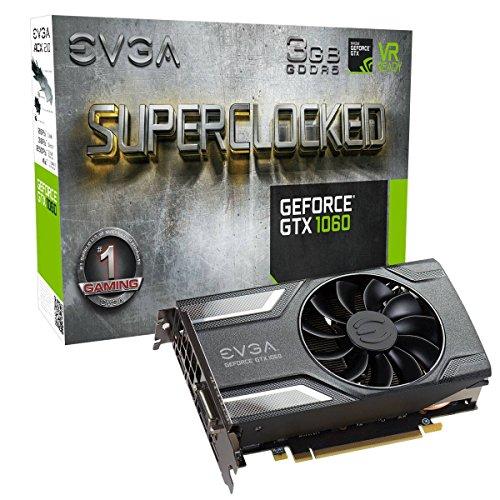 Evga - Gaming Graphics Card EVGA 03G-P4-6162-KR GTX 1060 SC ACX 2.0 3 GB|DDR5
