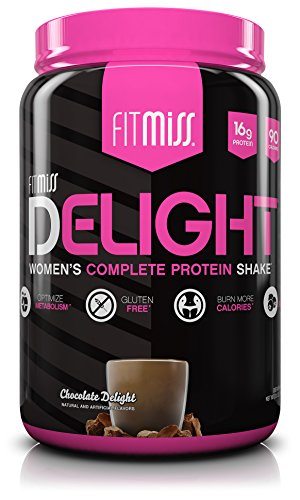 FitMiss Delight Protein Powder, Healthy Nutritional Shake for Women, Whey Protein, Fruits, Vegetables and Digestive Enzymes, Support Weight Loss and Lean Muscle Mass, Chocolate, 2-Pound - Meal Replacement Shake Protein Powder