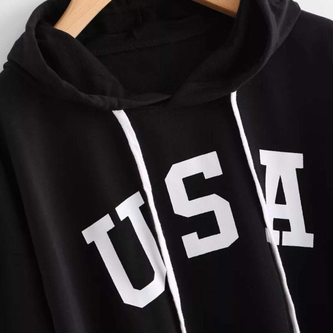 Amazon.com: Sweatshirt Hoodie for Women MITIY Letter Flag Printed Sweatshirt Long Sleeve Pullover Tops Blouse: Clothing