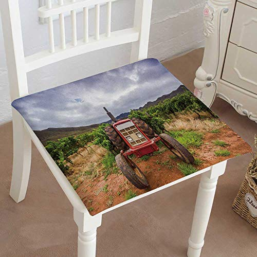 Mikihome Indoor/Outdoor All Weather Chair Pads Tractor in a Vineyard Robertson South Africa Seat Cushions Garden Patio Home Chair Cushions (Vineyard Wicker Furniture)