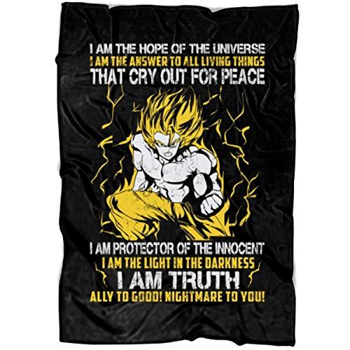 (LEXIGSTORE Quote by Akira Toriyama Soft Fleece Throw Blanket, Dragonball Z Fleece Luxury Blanket (Medium Blanket)