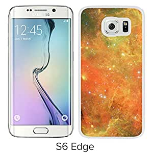 New Beautiful Custom Designed Cover Case For Samsung Galaxy S6 Edge With Orange Nebula (2) Phone Case