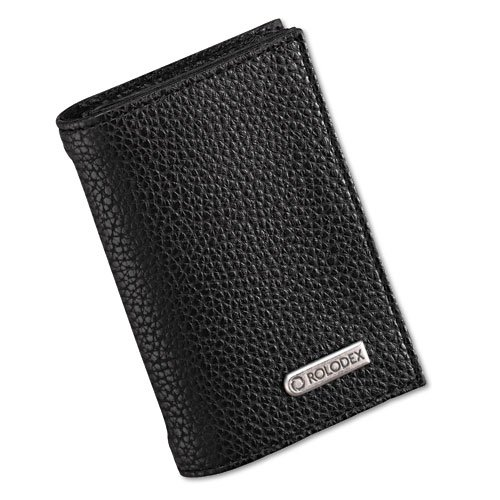 Rolodex 76657 Low Profile Personal Card Case - Black