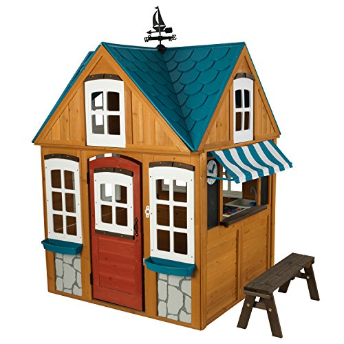 KidKraft Backyard Wooden Seaside Cottage Outdoor Children Kids Toddler Playhouse ()