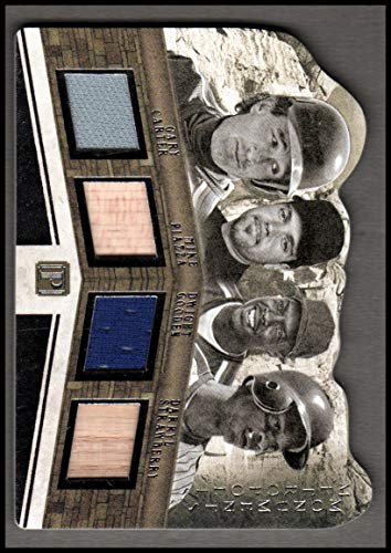 2016 Panini Pantheon Metropolis Monuments Materials #19 Darryl Strawberry Mike Piazza Dwight Gooden Gary Carter Jersey /49 NM-MT