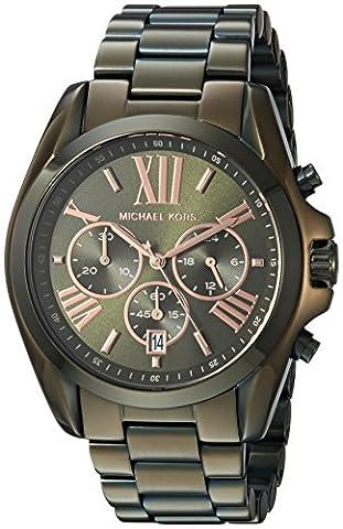 Michael Kors Women's 'Bradshaw' Quartz Stainless Steel Casual Watch, Color:Green (Model: MK6528) (Michael Kors Bradshaw Watch 43mm)