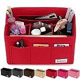 Bridawn Felt Handbag Organizer Purse Bag Neverfull Tote Insert 3MM Thickness, Medium Red