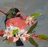 Rose Breasted Grosbeak no. 15 Bird Fine Art Print by Angela Moulton 6 x 6 inch