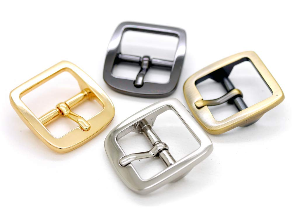 CRAFTMEmore Single Prong Belt Buckle Square Center Bar Buckles Purse Making Accessories Fits 3//4 Inch Strap 10 Pack, Gunmetal