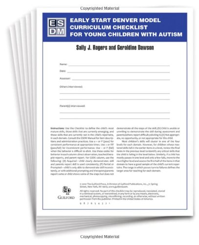 Early Start Denver Model Curriculum Checklist for Young Children with Autism (Young Models compare prices)