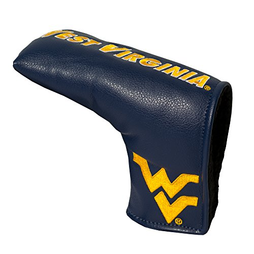 (Team Golf NCAA West Virginia Mountaineers Golf Club Vintage Blade Putter Headcover, Form Fitting Design, Fits Scotty Cameron, Taylormade, Odyssey, Titleist, Ping, Callaway)