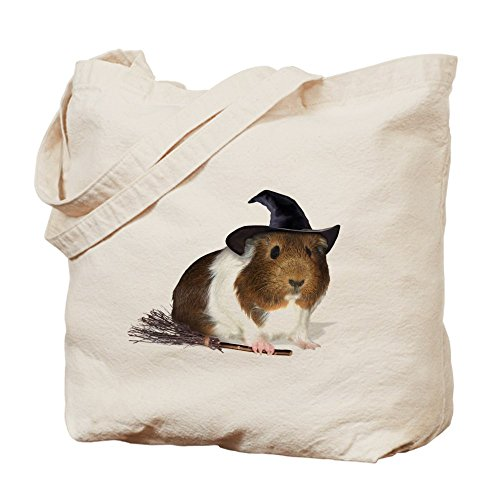 CafePress - Guinea Pig Witch Trick Or Treat Bag - Natural Canvas Tote Bag, Cloth Shopping (Guinea Pig Halloween Treats)