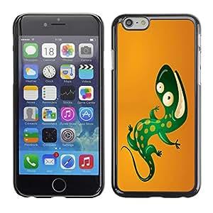 Cool Funny Lizard - Metal de aluminio y de plástico duro Caja del teléfono - Negro Apple iPhone 6 Plus(5.5 inches)