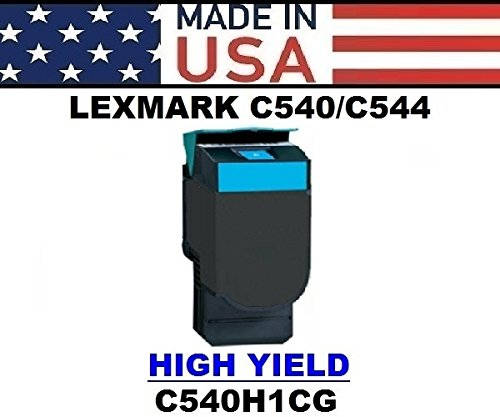 ALL CITY USA REMANUFACTURED Toner Cartridge Replacement for LEXMARK C540/C543/C544/C546/X543/X544/X546/X548 (Cyan) HIGH Yield