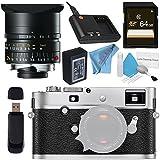 Leica M-P (Typ 240) Digital Rangefinder Camera (Silver Chrome) 10772 Elmar-M 24mm f/3.8 ASPH. Lens + 64GB SDXC Card + Card Reader + Deluxe Cleaning Kit + Fibercloth Bundle