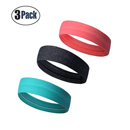 38d9415a1f2b Amazon.com   Keross 3 PCS Sports Headbands with Non-Slip