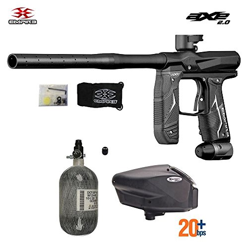 Empire Ramp Paintballs - MAddog Empire Axe 2.0 HPA Paintball Gun Package C - Dust Black