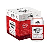 Hella Cocktail Co. | Bloody Mary Cocktail Mixer, 340ml x 4 pack | All Natural Bloody Mary Mixer made with Real Horseradish and 100% Tomato Juice | Perfect for Holiday Cocktail Drinks
