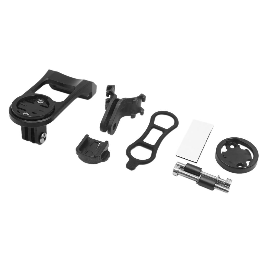 uxcell Black Cycling Bicycle Bike Computer GPS Extension Bracket Holder Stem Mount Kit