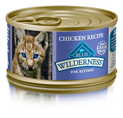 Blue Buffalo Wilderness Kitten Grain Free Chicken Pate Wet Cat Food 3-oz (pack of 24)