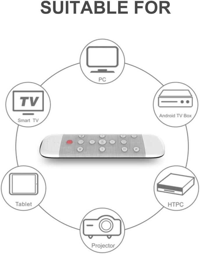 Docooler Wechip W1 Souris Air 2.4G sans Fil Clavier Télécommande Infrarouge Sens du Mouvement à 6 Axes avec Récepteur USB pour Smart TV Android TV Box PC Portable Q40