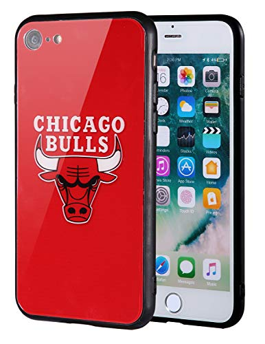 - The Mass iPhone 8 case, iPhone 7 case, NBA Team Logo on Tempered Glass Back Cover and Soft TPU Frame for Apple iPhone 8/7 (Chicago Bulls, 4.7 inch)