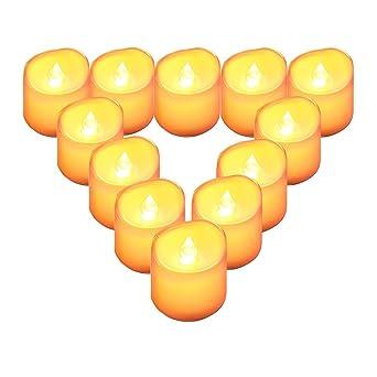 LED Echt Glas-Wind-Tee-Licht flackernd Kerze Laterne flammenlos candle tealight