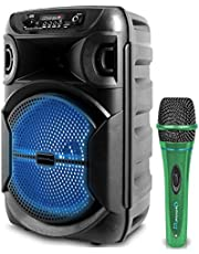 $44 » Technical Pro 8 Inch Portable 800 watts Bluetooth Speaker with Woofer & Tweeter, Festival PA LED Speaker with Bluetooth/USB Card, True Wireless Stereo, 30 Feet Bluetooth Range