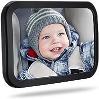 TOPELEK Rücksitzspiegel, Spiegel Auto Baby, Rückspiegel Baby Autospiegel Shatterproof Car Rückspiegel kompatibel mit...