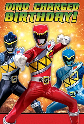Power Rangers Dino Charge Invitations [Set Of 8] (10 Pieces) - Power Rangers Dino Charge Invitations (Set Of 8)Includes (8) Themed Invitations With Envelopes.Color: Multi-Coloredoccasion: Birthdaymat