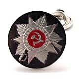 Russian Coin Tie Tack Lapel Pin Suit Russia Seal Crest Trade Communism USSR Cold War