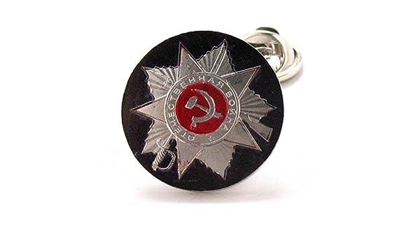 Ruso moneda Tie Tack Pin de solapa traje Rusia Escudo del sello ...