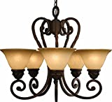 Volume Lighting Isabela 5-light Italian dusk chandelier For Sale