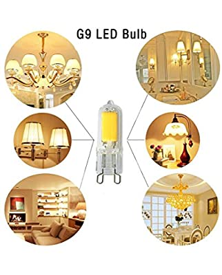 G9 LED Light Bulbs,2W,AC120V,25W Halogen Equivalent,250Lumens,G9 Bi-Pin Base, COB 360° Beam Angle G9 Glass Spot Lamps for Pendant Lighting Fixture Home Lighting Chandeliers (5 Pack)