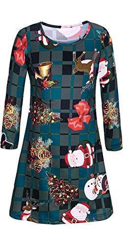 通常ケイ素懲戒親子お揃い クリスマスワンピース 親子服 お出かけ レディース ガールズ サマードレス クリスマスプリントドレス ロングスリーブ ラウンドネック